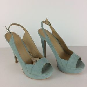 Forever 21 NWT Faux Suede Platform High Heels Sz 9